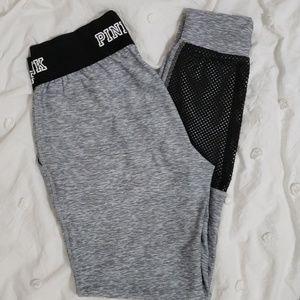 Victoria secret PINK joggers size M with mesh det